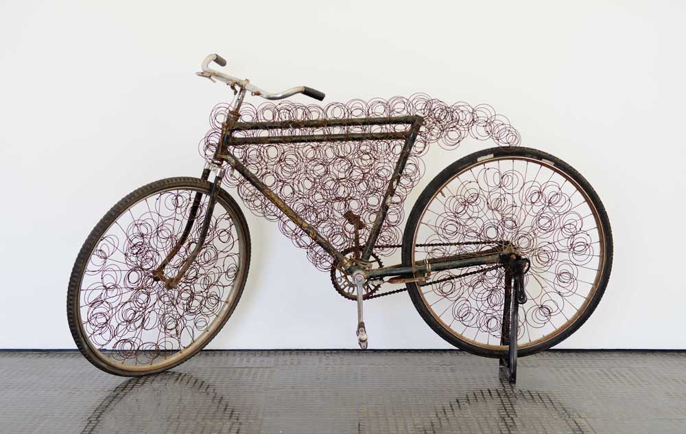 Cyrus Kabiru | Absa Bicycle | 2009 | Steel and Found Objects | 102 x 185 x 52 cm