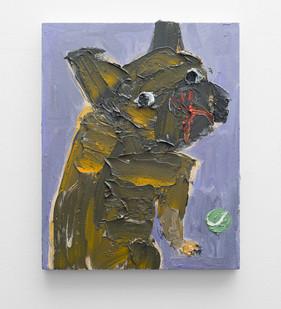 Georgina Gratrix | The Suspicious Face | 2016 | Oil on Board | 60 x 50 cm