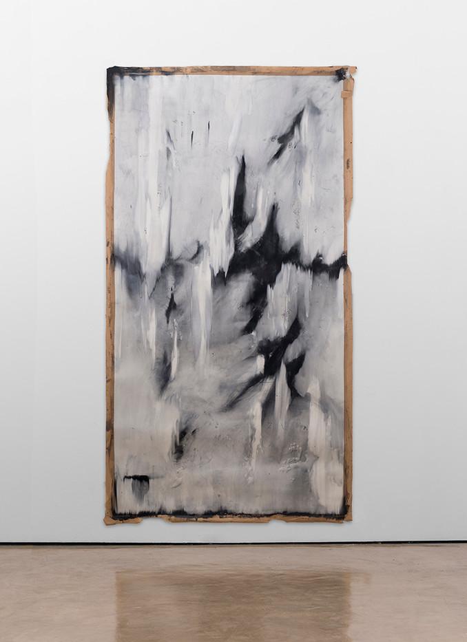 Alexandra Karakashian | Fall II | 2017 | Oil on Sized Paper | 270 x 140 cm