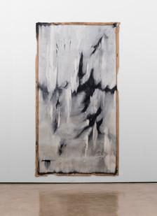 Alexandra Karakashian   Fall II   2017   Oil on Sized Paper   270 x 140 cm