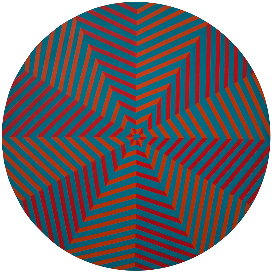 Trevor Coleman | Optical | 1972 | Acrylic on Board | 114.5 cm Diameter