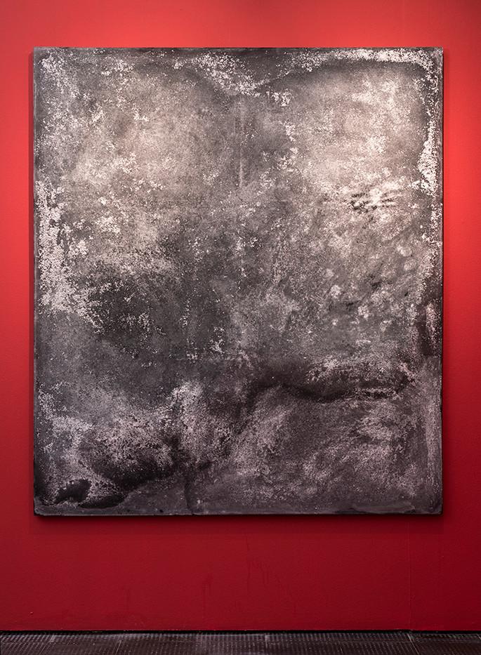 Lhola Amira | Umlibo III | 2018 | Salt, Spray Paint, Glue, Salt Water on Stretched Fabric | 200 x 175 cm