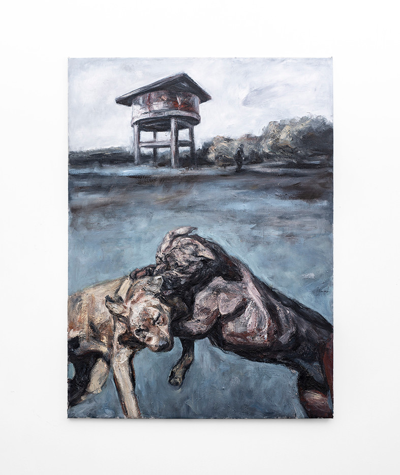Johann Louw | Woeste gevegte | 2020 | Oil on Canvas | 209 x 143 cm