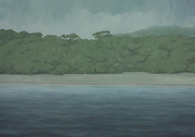 Jake Aikman   N10.752914, W85.660492   2013   Oil on Canvas   151 x 212 cm