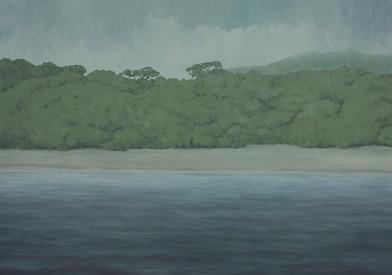 Jake Aikman | N10.752914, W85.660492 | 2013 | Oil on Canvas | 151 x 212 cm