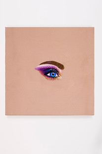 Frances Goodman | Sexy Sadie | 2018 | Hand-Stitched Embroidery on Satin | 45 x 45 cm