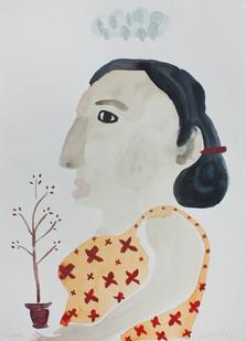 Karlien de Villiers | Die Besoek | 2013 | Watercolour on Paper | 51 x 36 cm