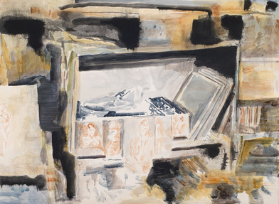 Uwe Wittwer | Interieur, Camp (Interior, Camp) | 2012 | Watercolour on Paper | 57 x 76 cm