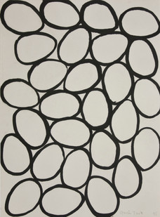 Gavin Turk | Eggs Conatined by Page | 1995 | Ink on Paper | 31 x 23.5 cm