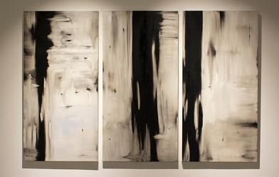 Alexandra Karakashian | Deplore I, II & III | 2016 | Oil on Canvas | 200 x 100 cm Each