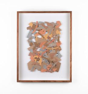 Jo Roets | Transiçã 2 | 2020 | Air-Drying Clay | 46.5 x 35 x 3.5 cm