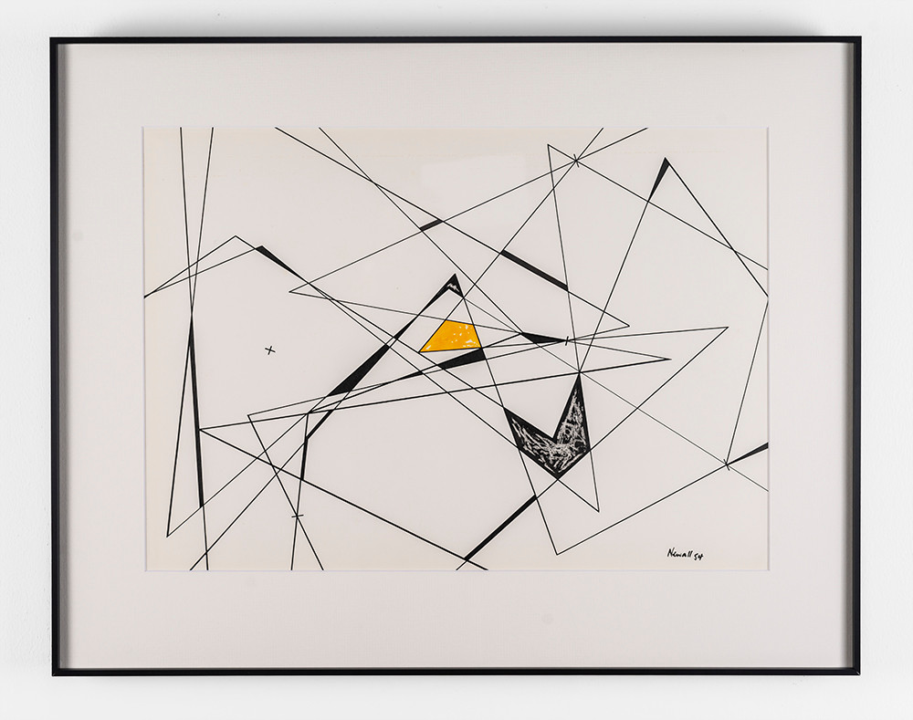 Albert Newall | Untitled | 1954 | Watercolour and Ink on Paper | 34.5 x 47.5 cm