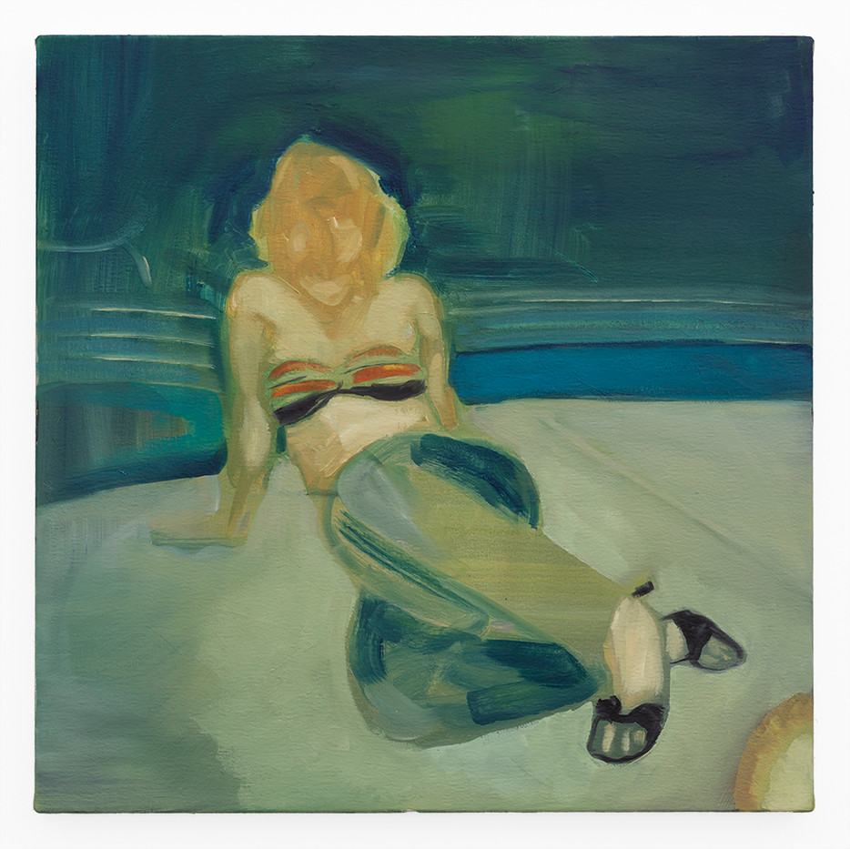 Kate Gottgens | Denim and Heels | 2020 | Oil on Canvas | 50 x 50 cm