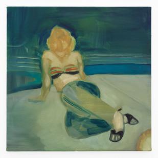 Kate Gottgens | Denim and Heels | 2020 | Oil on Canvas | 50 x 50 cm