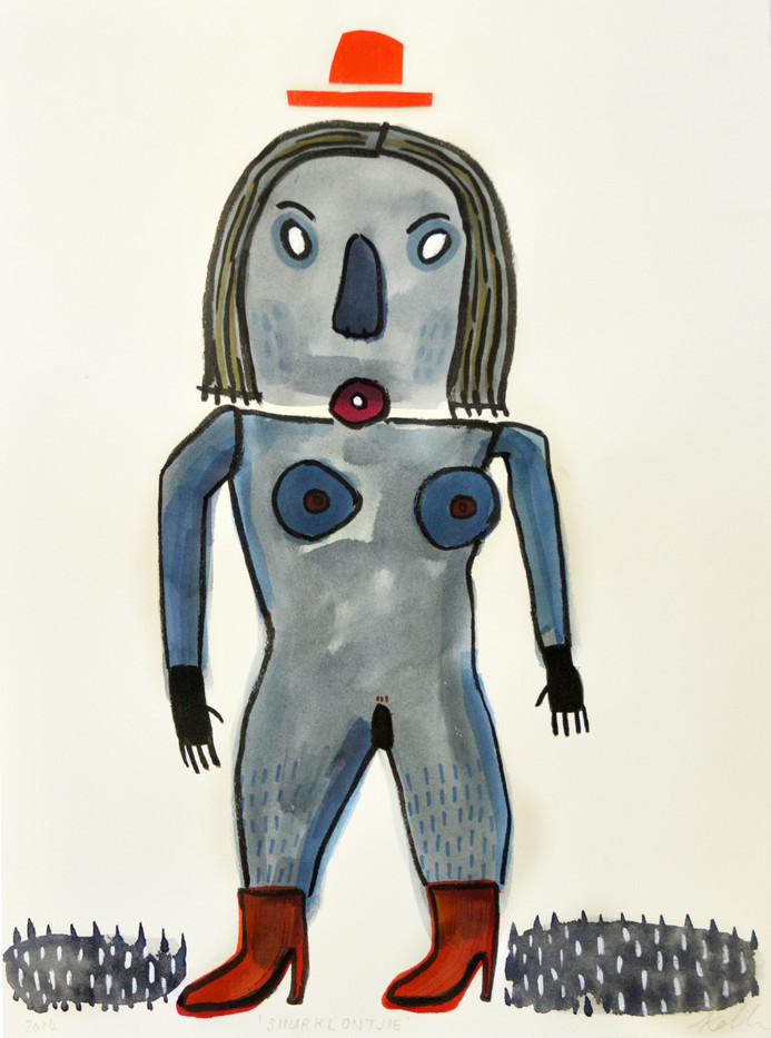 Karlien De Villiers | Suurklontjie | 2014 | Ink, Collage and Watercolour on Paper | 38.5 x 28.5 cm