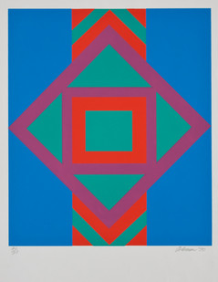 Trevor Coleman | Totem | 1970 | Screen Print on Paper | 65 x 50 cm | Edition of 27