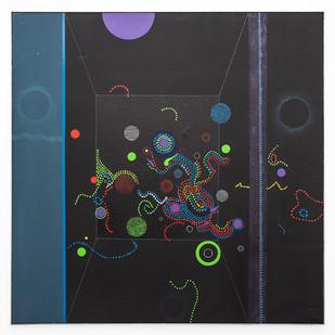 Kevin Atkinson | Mata-Hari | n.d | Acrylic on Canvas | 152.5 x 152.5 cm