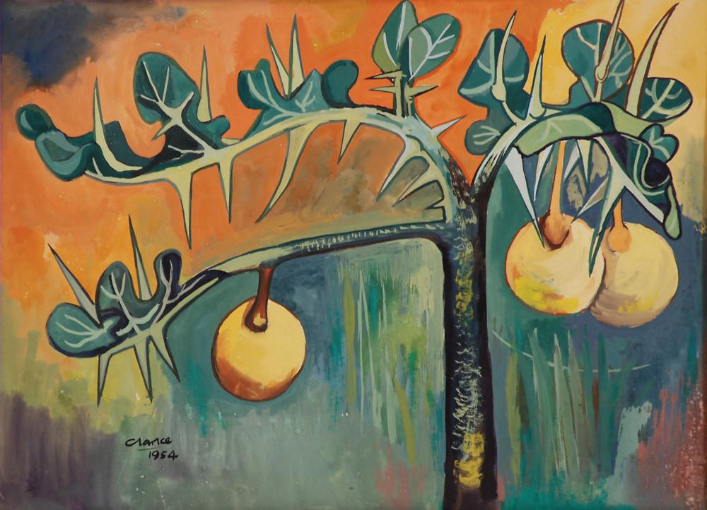 Peter Clarke | Snake Apple Thorn | 1954 | Gouache on Paper | 27 x 37 cm