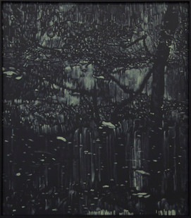 Peter Eastman   Deep Chine - Coldstream XII   2017   Oil on Aluminium   40 x 34 cm