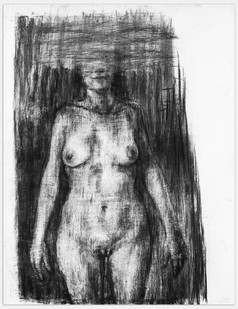 Johann Louw | Vroulike Liggaam I | 2014 | Charcoal on Paper | 163 x 125 cm