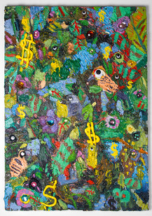 Georgina Gratrix | All I see is Dollar Signs | 2016 | Oil on Canvas | 100 x 70 cm