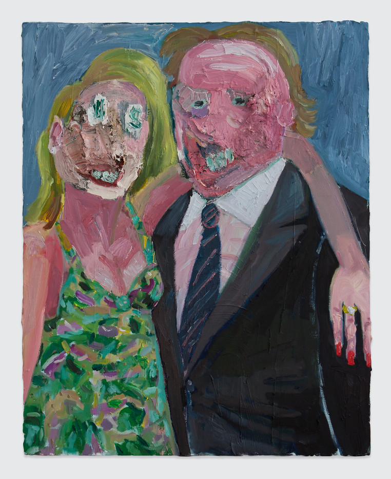 Georgina Gratrix | The Collectors | 2014 | Oil on Canvas | 100 x 80 cm