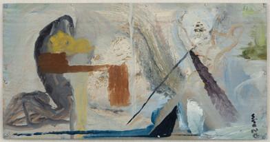 Simon Stone   Lateral   2014   Oil on Cardboard   21 x 40.5 cm