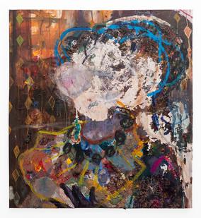 Mostaff Muchawaya   Shamiso   2019   Acrylic on Canvas   159.5 x 148.5 cm