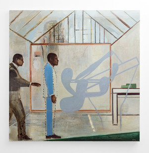 Simon Stone | The Paper House | 2017 | Oil on Canvas | 190 x 190 cm