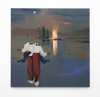 Kate Gottgens | Private Rites of Magic | 2020 | Oil on Canvas | 100 x 100 cm