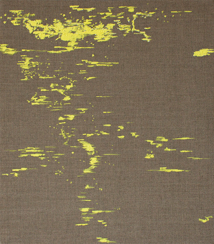 Peter Eastman | Deep Chine - Small Yellow Light | 2015 | Distemper and Oil on Linen | 40 x 35 cm