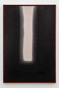 Alexandra Karakashian | Passing Through II | 2019 | Used Motor Oil on Canvas, Primed on Reverse | 150 x 100 cm