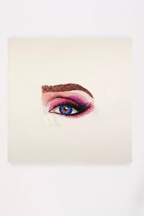 Frances Goodman | Jolene | 2018 | Hand-Stitched Embroidery on Satin | 45 x 45 cm