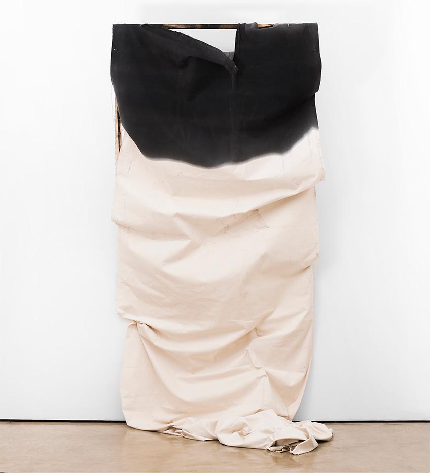 Alexandra Karakashian | Adrift (collapse) | 2017 | Oil, Canvas, Wood | 300 x 140 x 50 cm