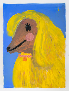 Georgina Gratrix | Dog Park Bae | 2015 | Oil on Paper | 50 x 35.5 cm