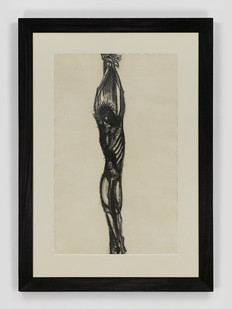 Albert Adams | Crucifixion | c. 1950 | Charcoal on Paper | 131 x 94 cm