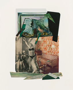 Kate Gottgens   Just what is it that makes today's homes so different, so distressing   2020   Collage on Paper   77 x 57 cm