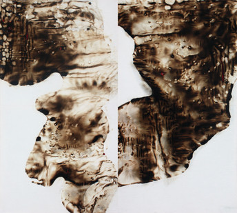 Sandile Zulu | Artoms Archetype Forms Case 6 | 2012 | Fire, Water, Air and Earth on Canvas | 160 x 145 cm