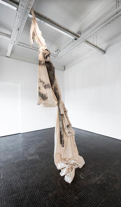 Alexandra Karakashian | Weep | 2018 | Fabric and Wood | Dimensions Variable
