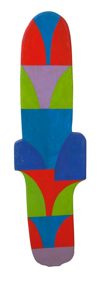Trevor Coleman | Untitled | 1968 | Acrylic on Plywood | 82 x 23 cm