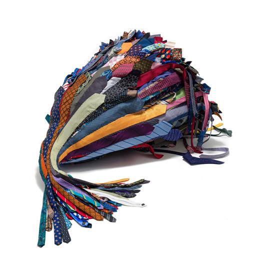 Frances Goodman   Dead Weight   2020   Ties, Thread and Foam   142 x 115 x 75 cm