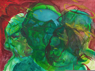Chemu Ng'ok | The Boundery Wall | 2017 | 59.5 x 79.5 cm