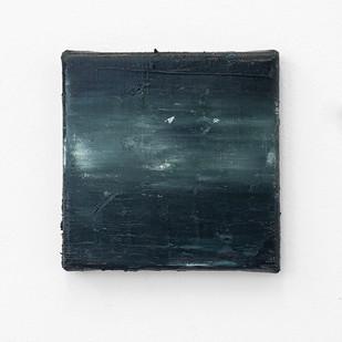 Jake Aikman | Nocturne (black) | 2016 | Oil on Canvas | 15 x 15 cm
