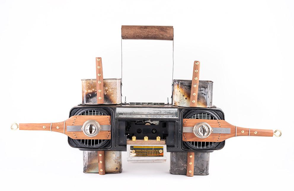 Cyrus Kabiru | Mwiko | 2020 | Steel and Found Objects | 44 x 75 x 16.5 cm