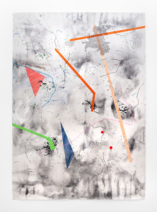 Mongezi Ncaphayi | Obsession | 2019 | Indian Ink and Watercolour on Cotton Paper | 199 x 140 cm