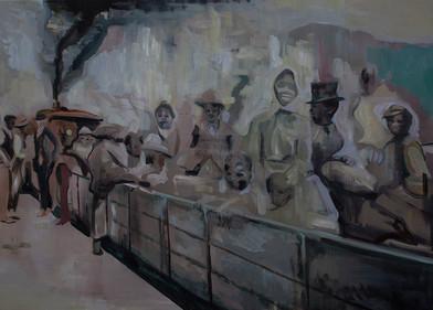 Kate Gottgens | Clickety Clack | 2015 | Oil on Canvas | 115 x 160 cm
