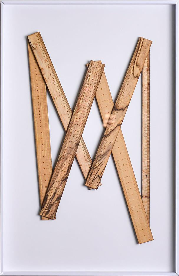 Ruann Coleman   Certain Lengths II   2017   Zibrano and Wild Pear Wood   46 x 29.5 cm