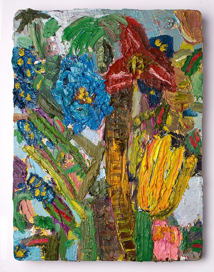 Georgina Gratrix | Hot Stepper | 2016 | Oil on Board | 40 x 30 cm