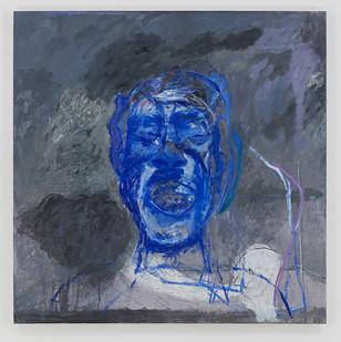 Albert Adams | Blue Head | c. 1999 | Oil on Canvas | 153 x 153 cm