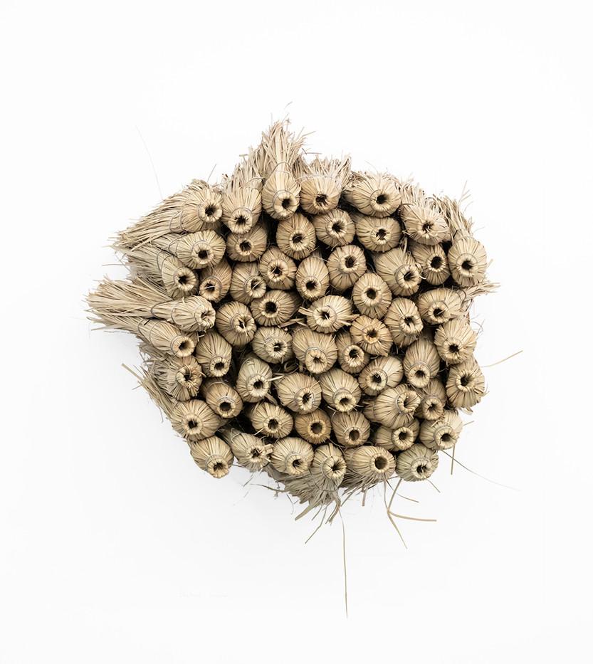 Usha Seejarim   Home 1   2019   Grass Brooms and Wire   80 x 56 x 60 cm